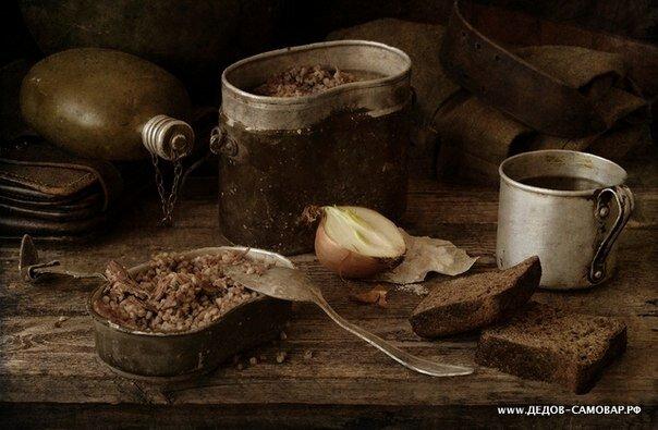 рецепт фронтовой гречневой каши с тушенкой на костре