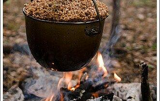 рецепты гречневой каши на костре